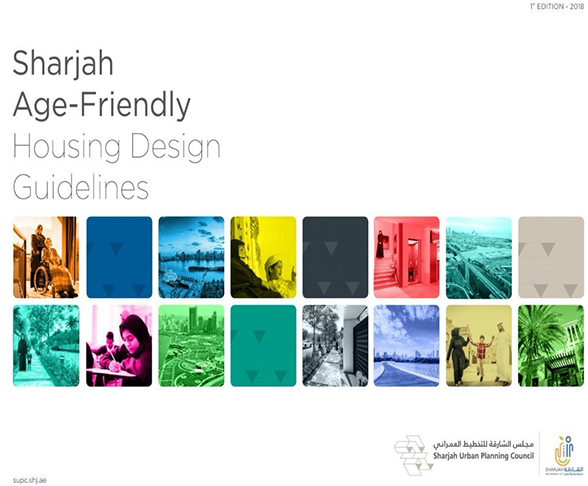 A cover page for Age Friendly housing Guidelines