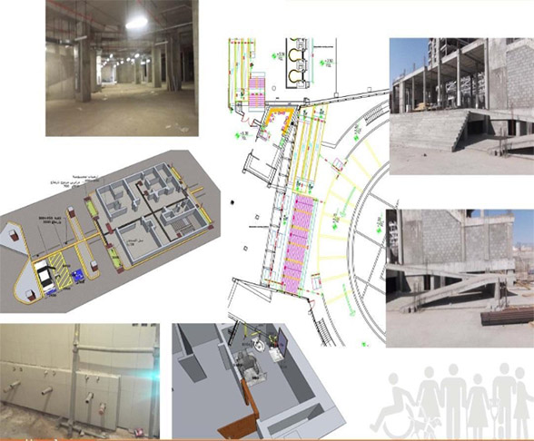 A number of photos that illustrates the hujj building and a plan for the provided solution.