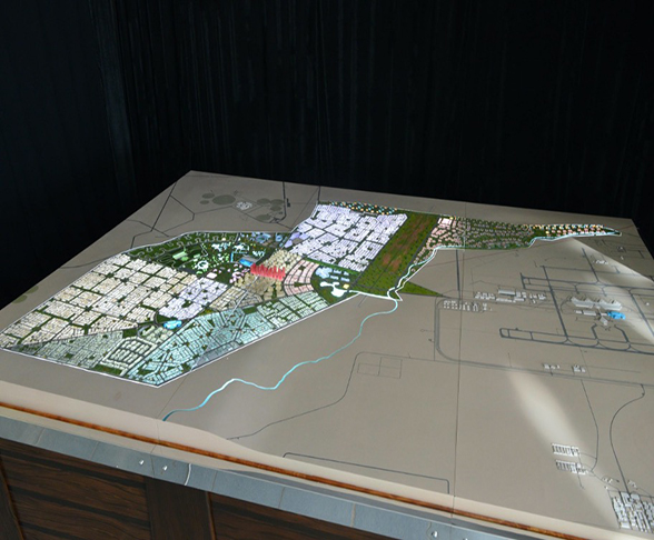 A photo of a model for alkhozama project